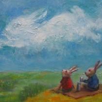 ウサギ雲と共に