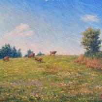 雲と牛と牧場